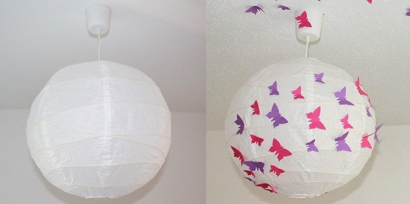 DIY-Schmetterlingslampe
