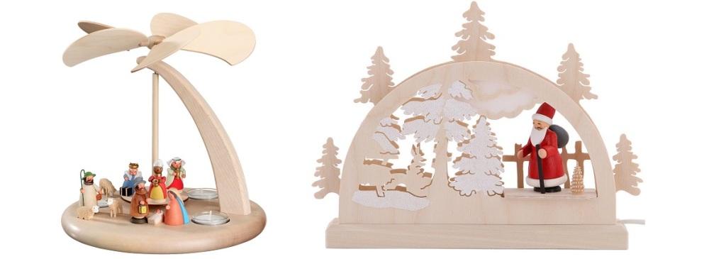 Schwibbogen und Weihnachtspyramide
