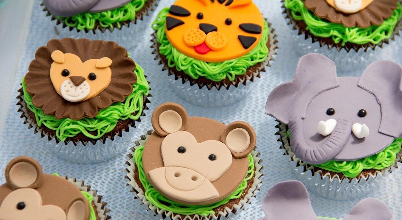 Cupcakes Tiere aus Fondant